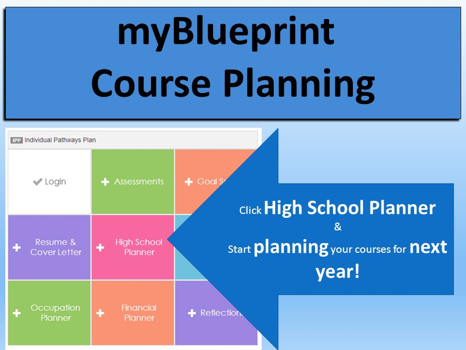 Office 365 and myblueprint ppt video online download myblueprint course planning malvernweather Images