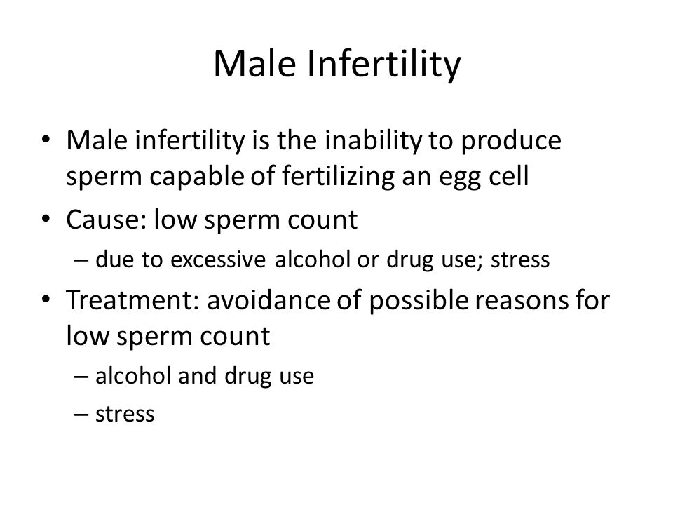 sperm on drug affects