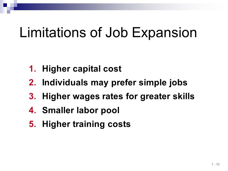 Limitations of Job Expansion