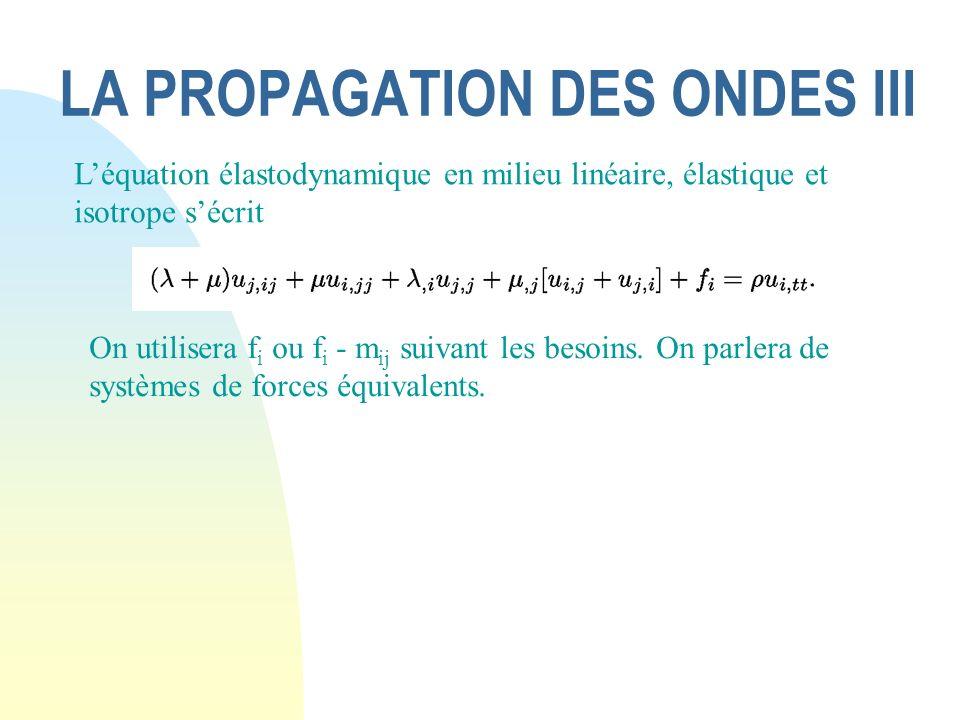 LA PROPAGATION DES ONDES III