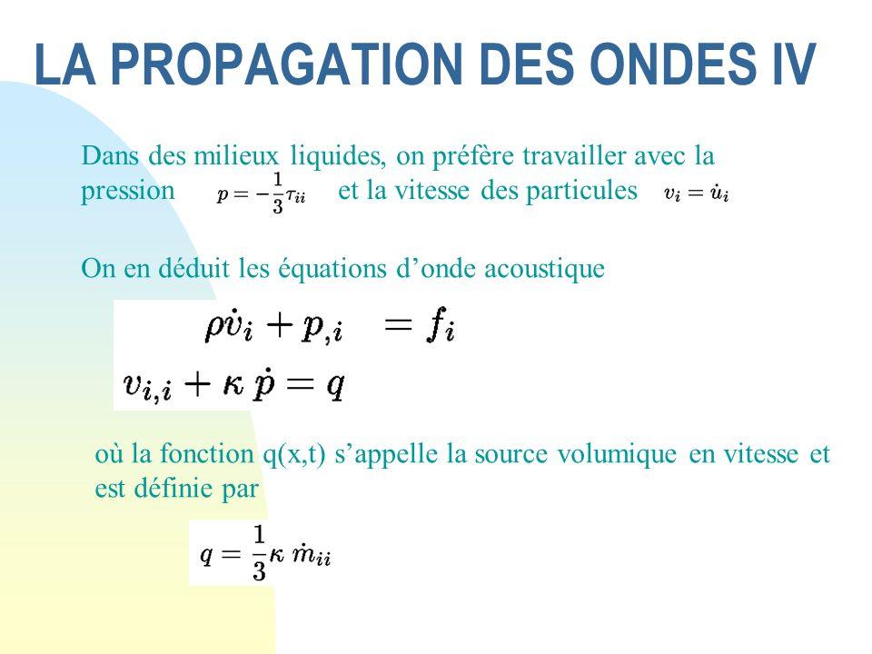 LA PROPAGATION DES ONDES IV
