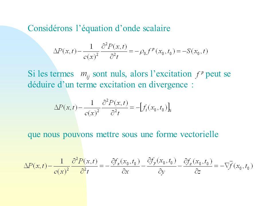 Considérons l'équation d'onde scalaire