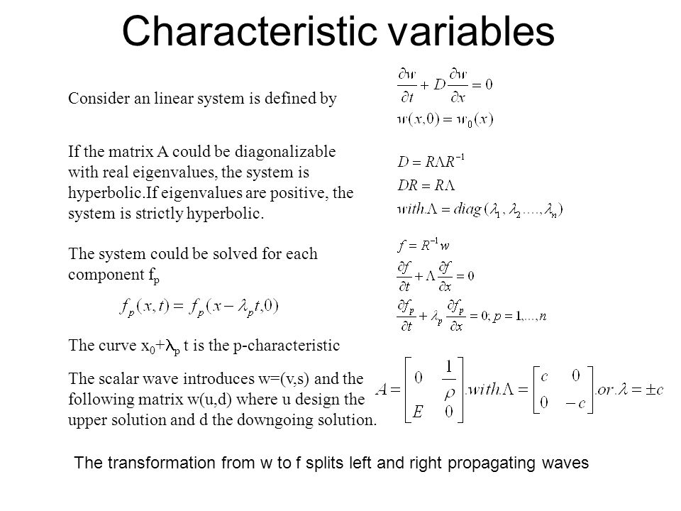 Characteristic variables