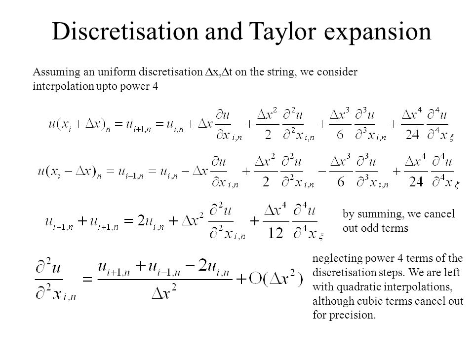 Discretisation and Taylor expansion