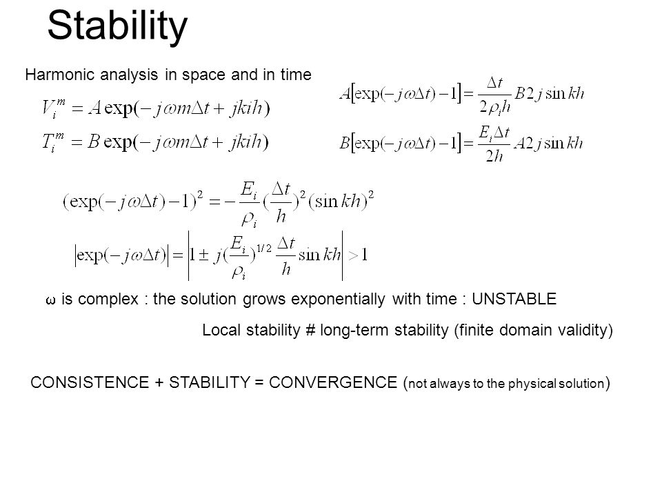 Stability Harmonic analysis in space and in time