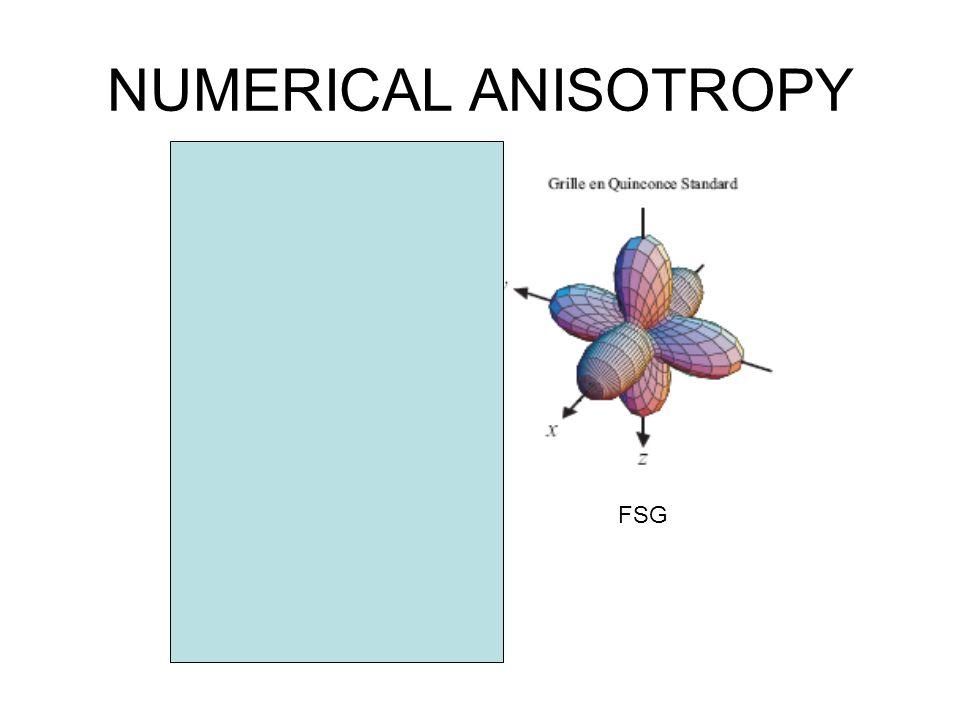 NUMERICAL ANISOTROPY PSG FSG COMBINE
