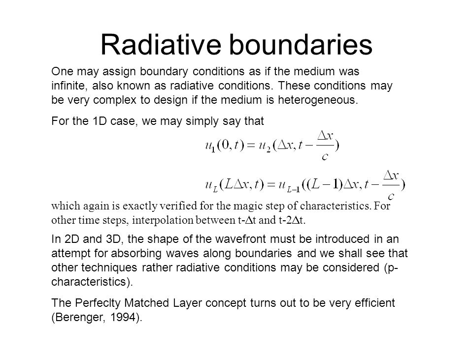 Radiative boundaries