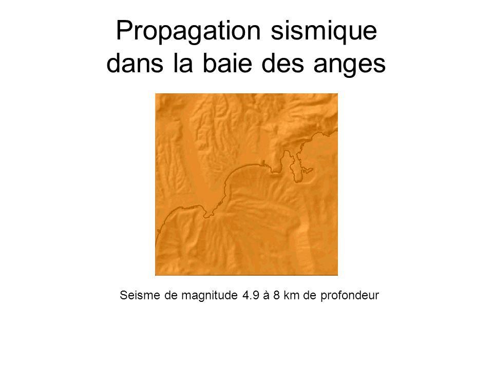Propagation sismique dans la baie des anges