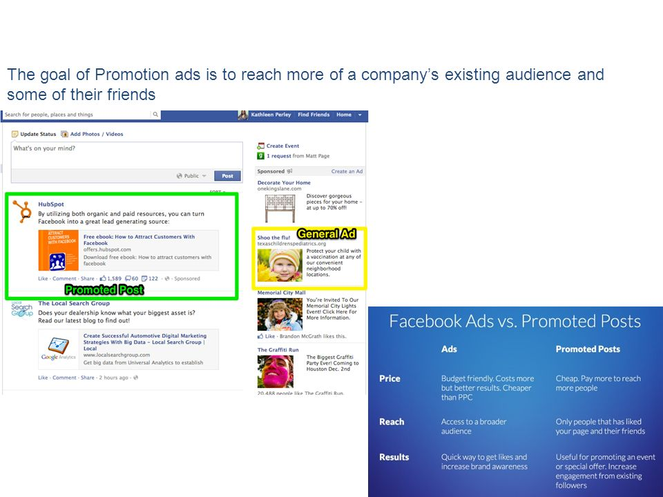 The goal of Promotion ads is to reach more of a company's existing audience and