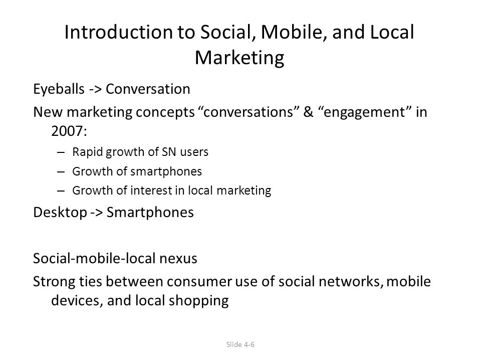 Introduction to Social, Mobile, and Local Marketing