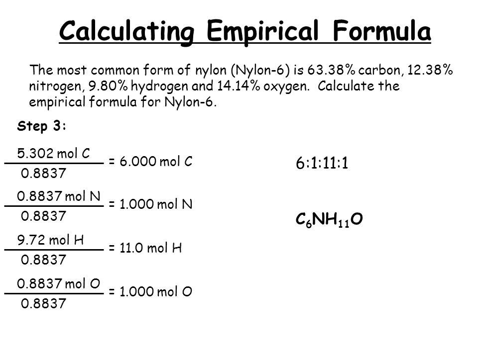 Percent Composition, Empirical Formulas, Molecular Formulas - ppt ...