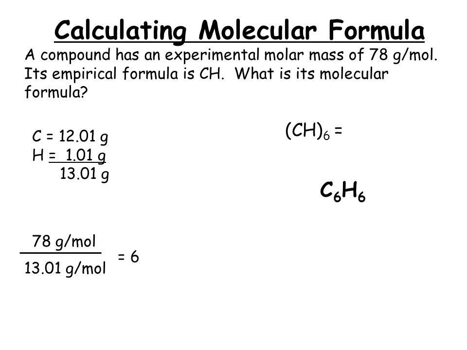 how to find molecular formula from molecular mass
