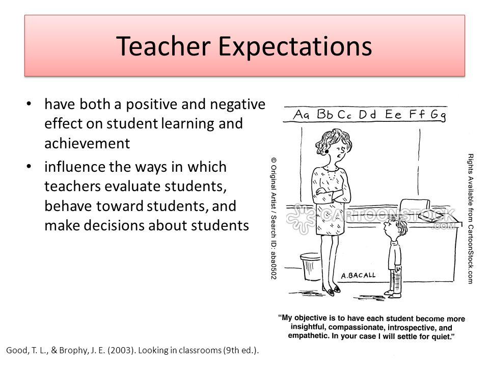 influence on teachers and students A teachers influence on students essaysone measure of the teacher.