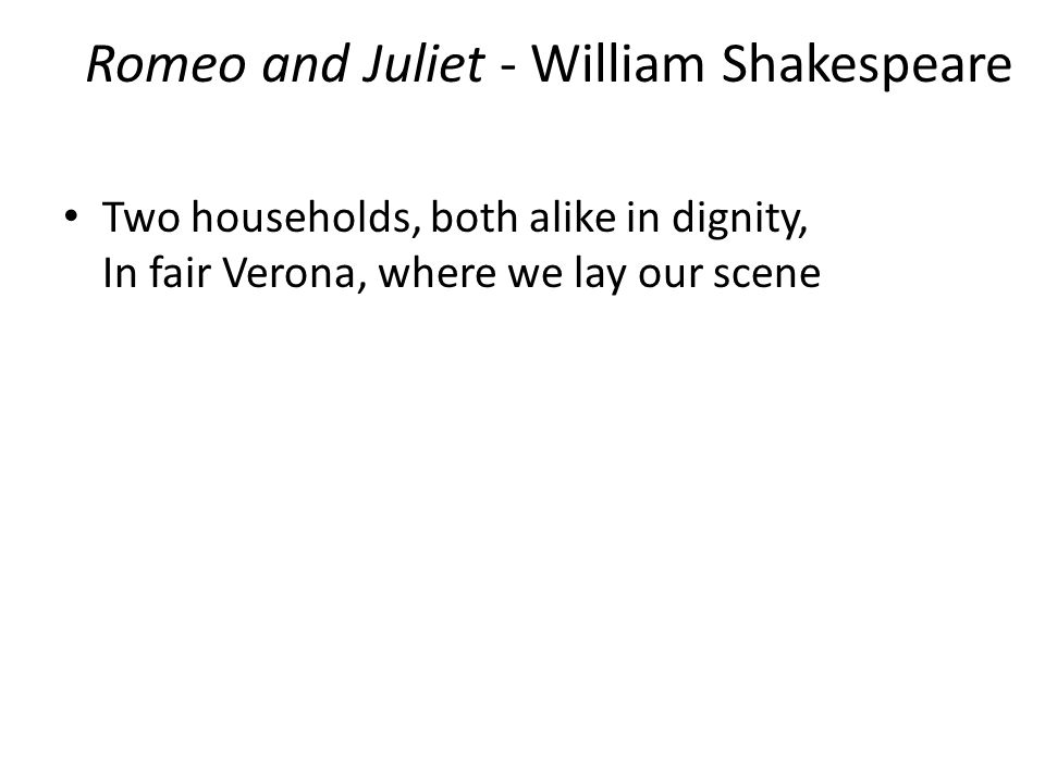 the seed of failure in romeo and juliet by william shakespeare However although they aren't close to romeo, he isn't failed by his parents   parents' roles in william shakespeare's romeo and juliet essay.