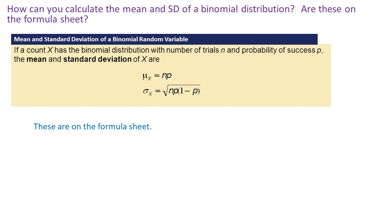 15 How Can You Calculate 63 Binomial And Geometric Random Variables Ppt  Download How To Calculate Standard Deviation