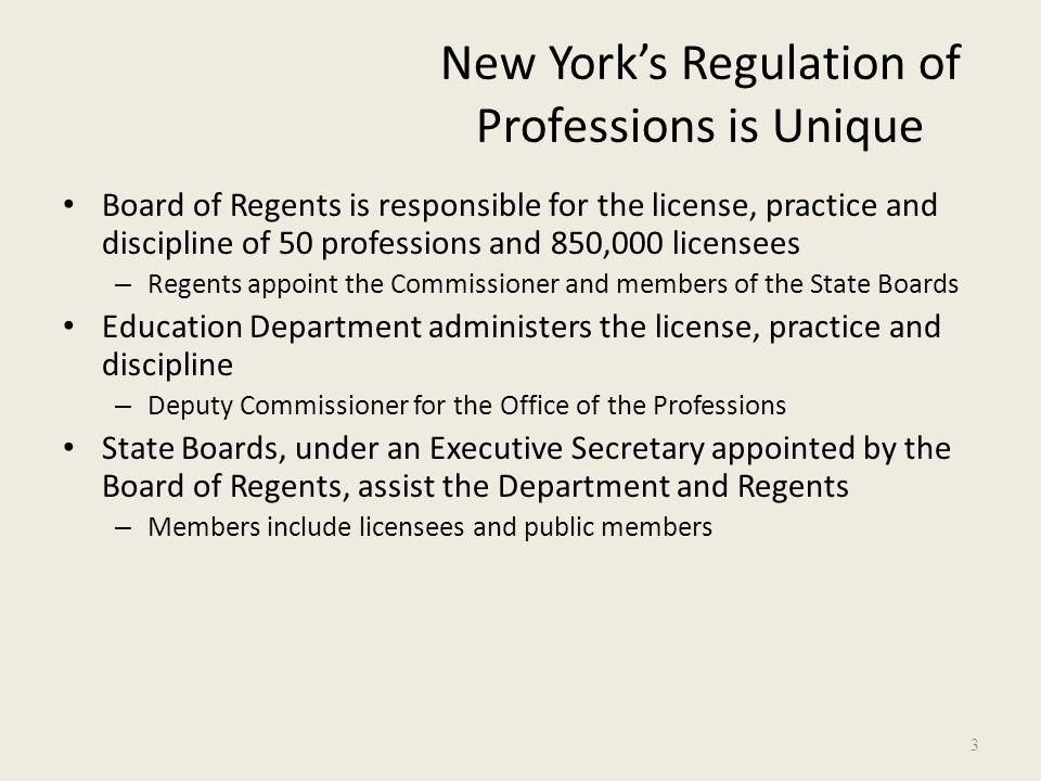 3 New Yorku0027s Regulation Of Professions ...