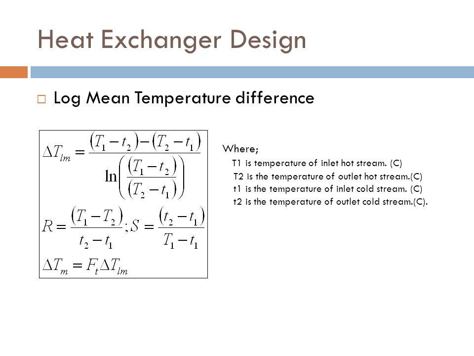 heat exchanger design calculations pdf
