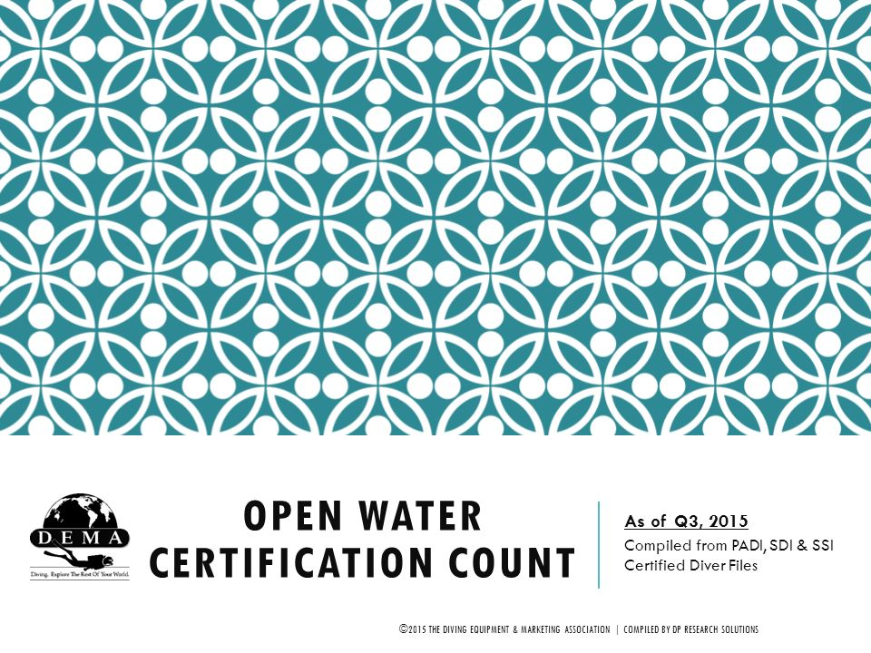 Open Water Certification Count - ppt video online download