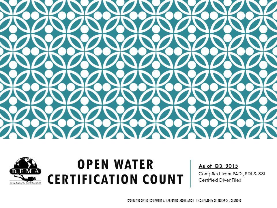 Open Water Certification Count - ppt video online download