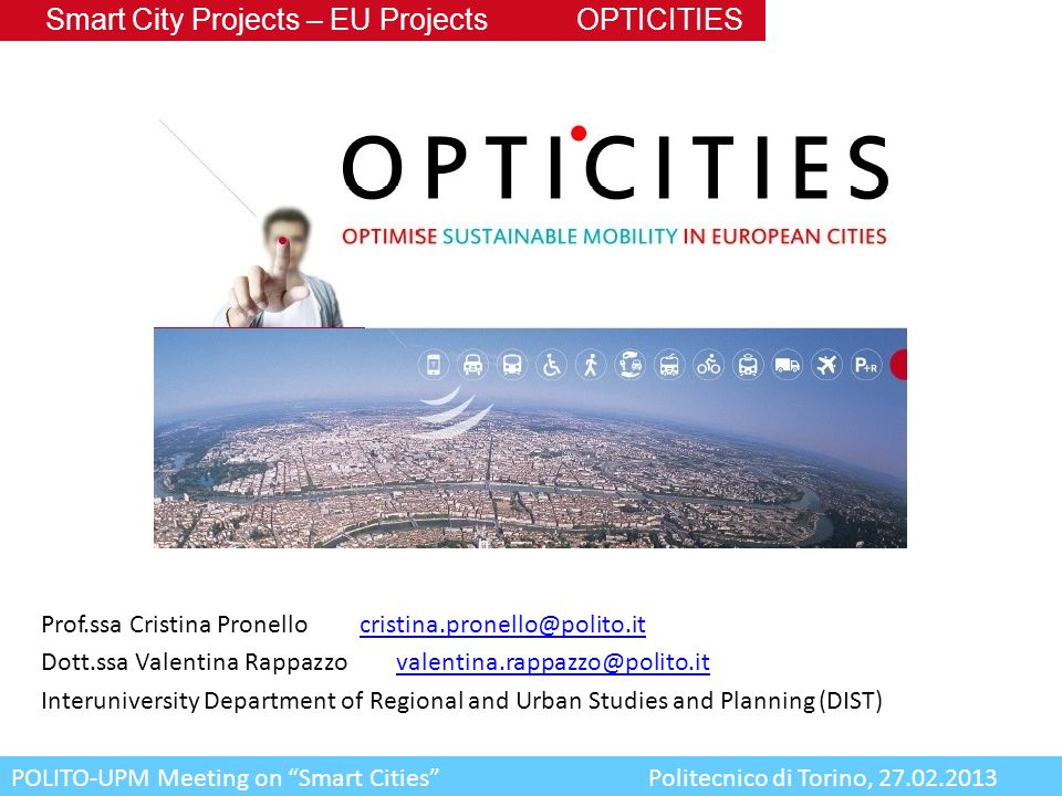 Smart City Projects – EU Projects OPTICITIES
