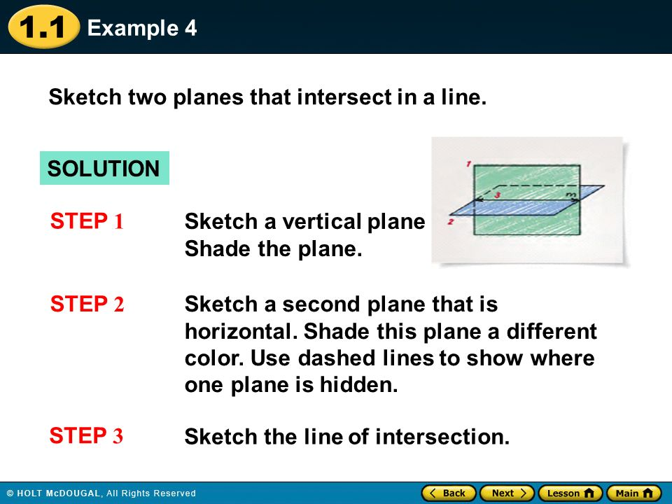 examples of intersecting planes. 11 example examples of intersecting planes t