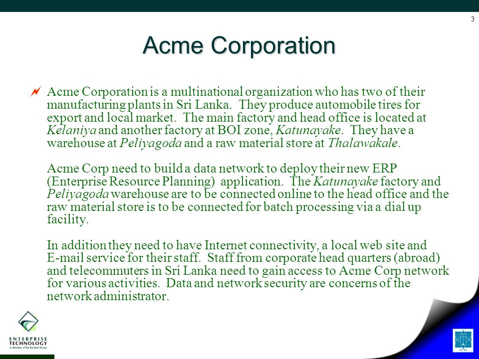acme corporation case essay Acme fireworks can choose the  it is neither registered with the respective state as a limited liability company nor a corporation  case study master's essay.