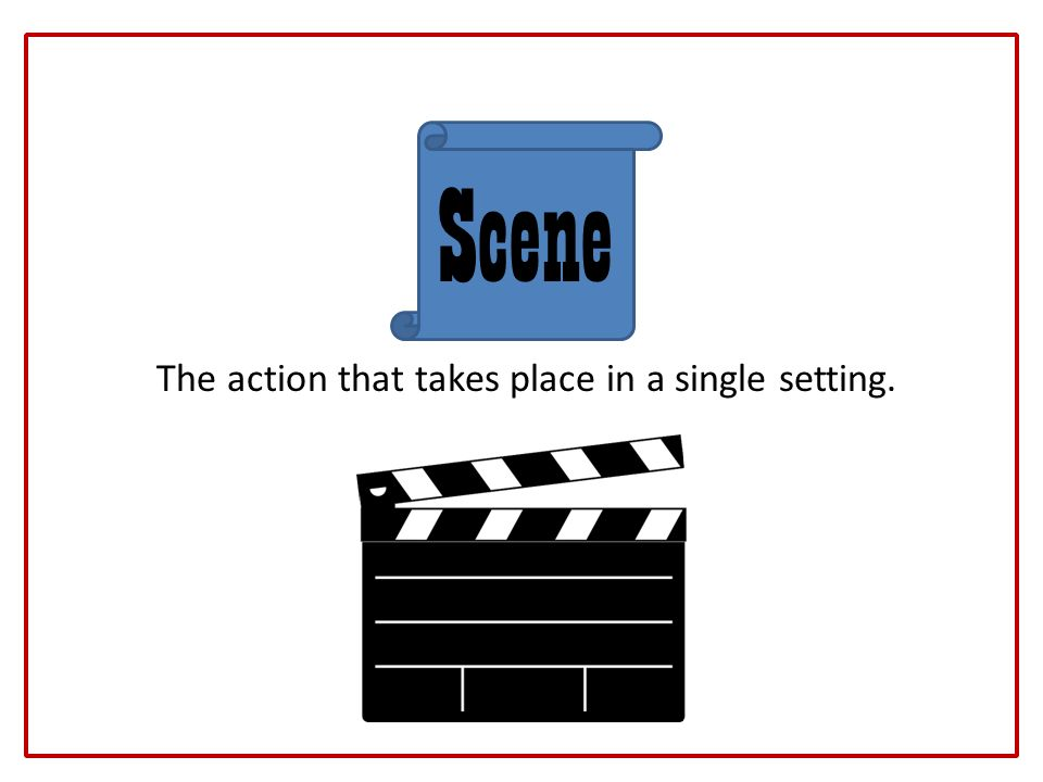 The action that takes place in a single setting.