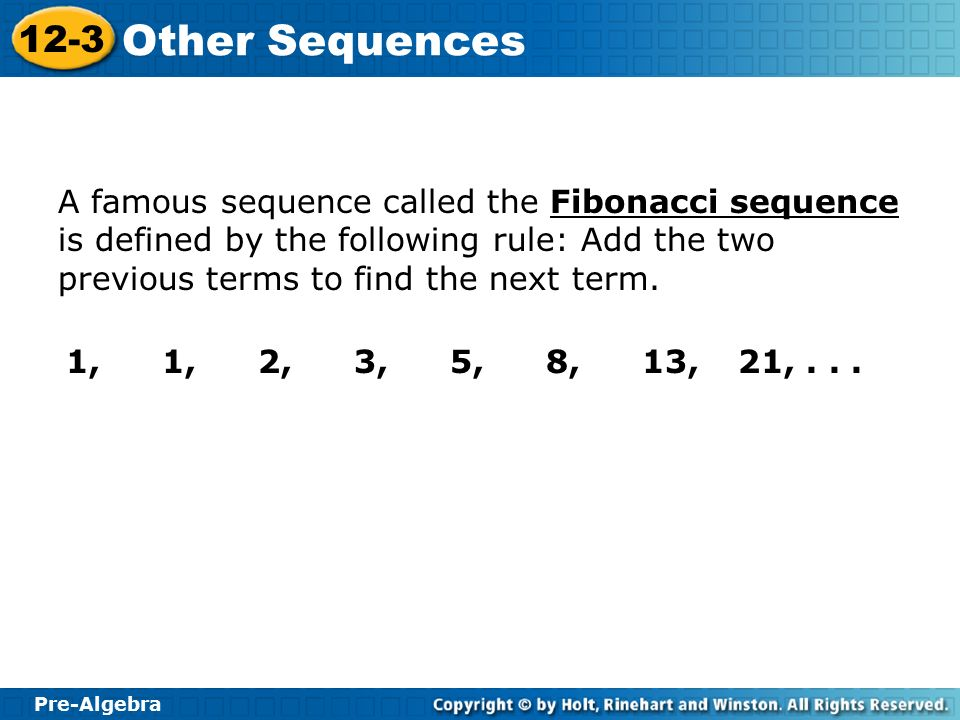 how to find the next term in a sequence