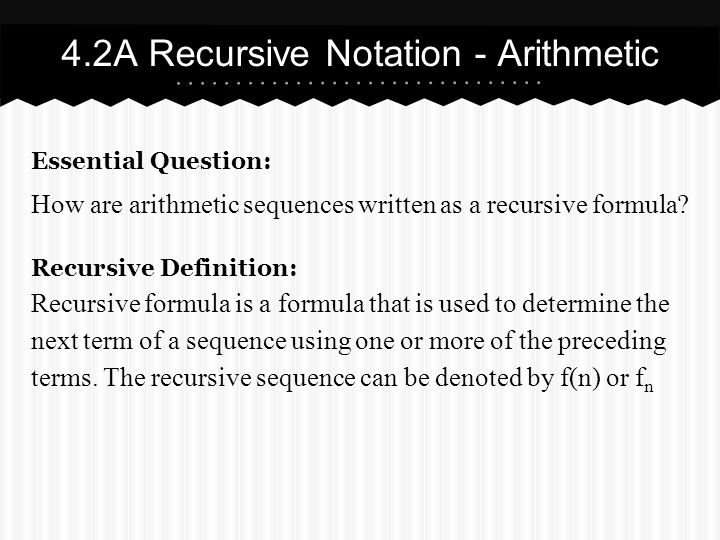 Interpreting recursive equations to write a sequence that has two
