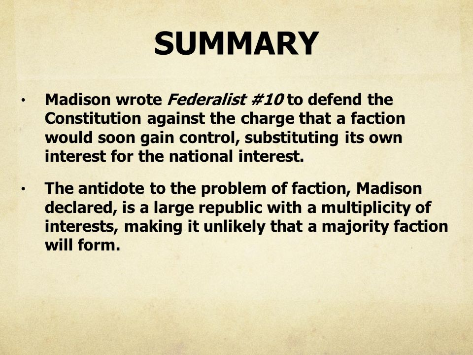 federalist paper 46 Federalist no 51 (1788) in this federalist paper, james madison explains and defends the checks and balances system in the constitution each branch of government is framed so that its power checks the power of the other two branches additionally, each branch of government is dependent on the people, who are the source of legitimate [.
