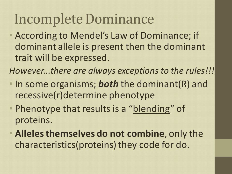 law of dominance - photo #47