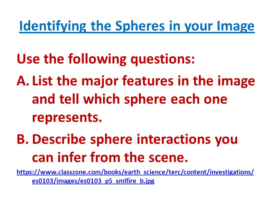 Identifying the Spheres in your Image