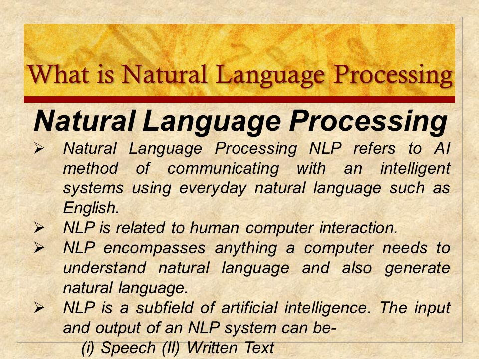 understanding natural language processing Natural language processing has become a hot topic in recent years  concepts  that cannot be omitted for the sake of understanding.