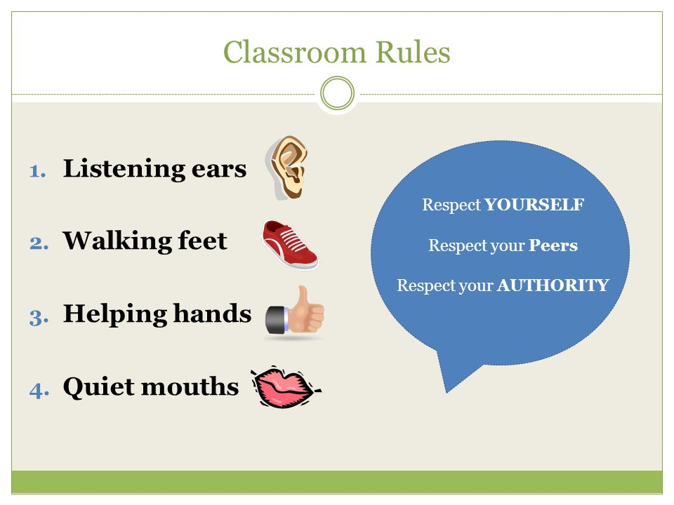 Walking Feet In Classroom