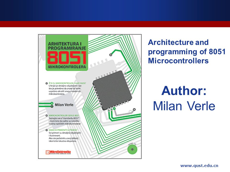 The principle and application of microcontrollers ppt for Architecture 8051 microcontroller
