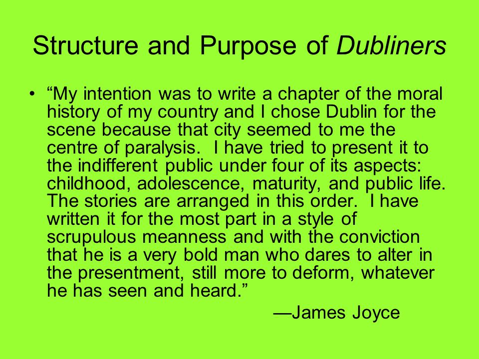 moral paralysis in james joyce dubliners Resistance to paralysis in dubliners although most females, like most males, in dubliners are (and no moral judgment is implied james joyce the regionalist.