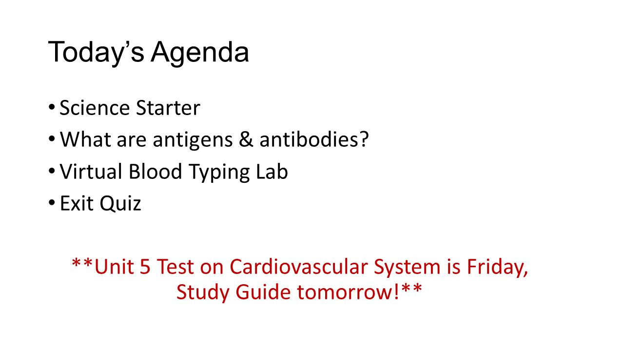 Worksheets Science Starters Worksheet science starter what are the 3 types of blood cells ppt video todays agenda antigens antibodies