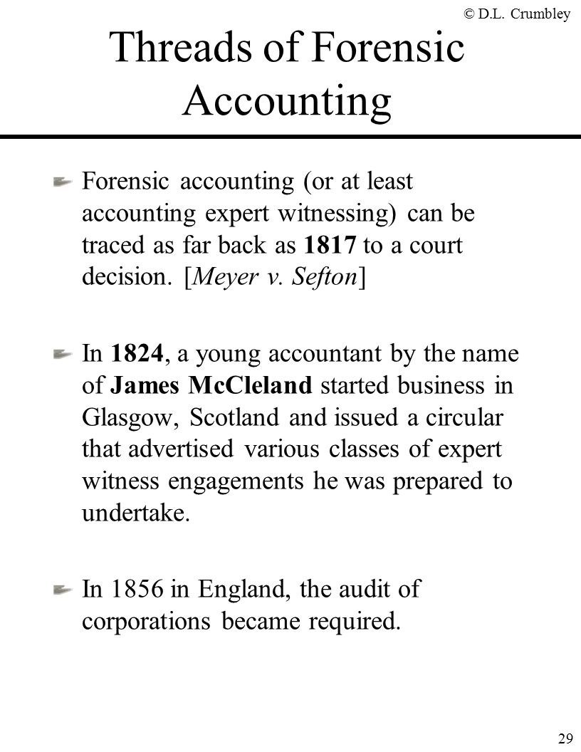 The fraud side of forensic accounting d larry crumbley cpa cr threads of forensic accounting solutioingenieria Image collections