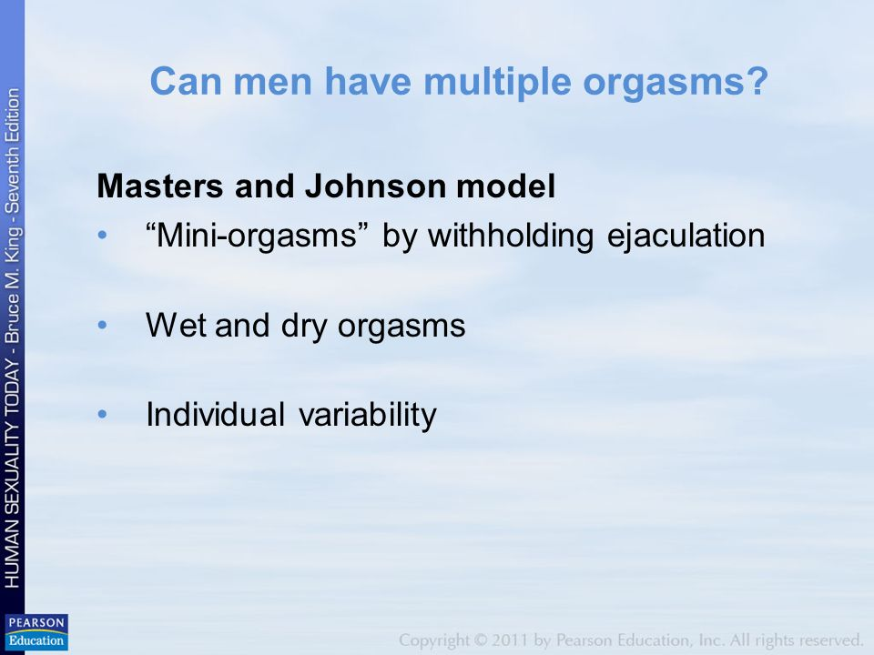 How a guy has multiple orgasms