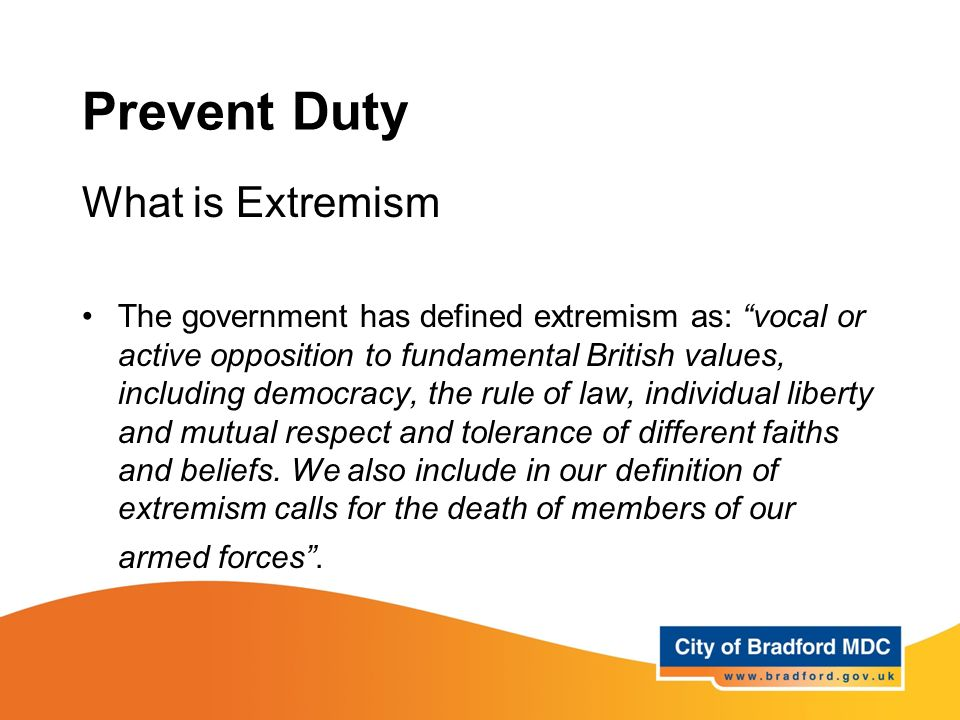 Prevent Duty What Is Extremism