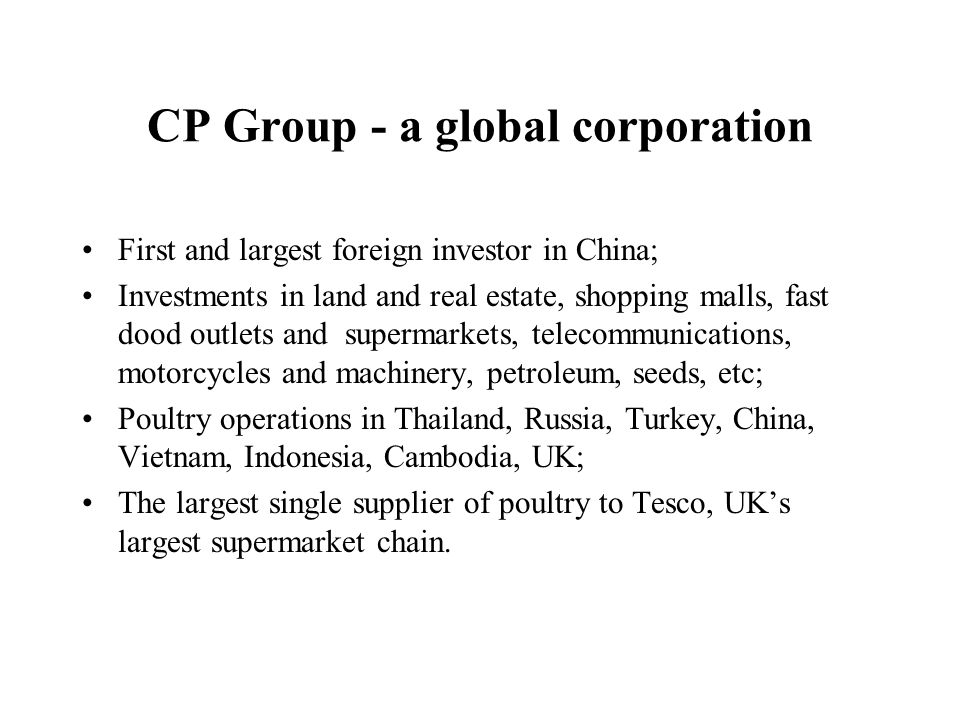 CP Group - a global corporation