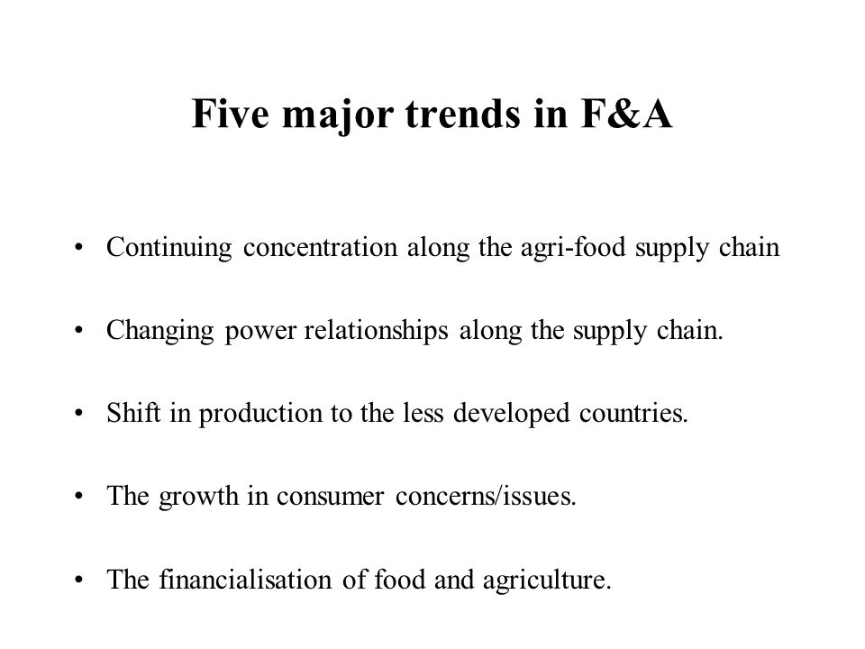 Five major trends in F&A