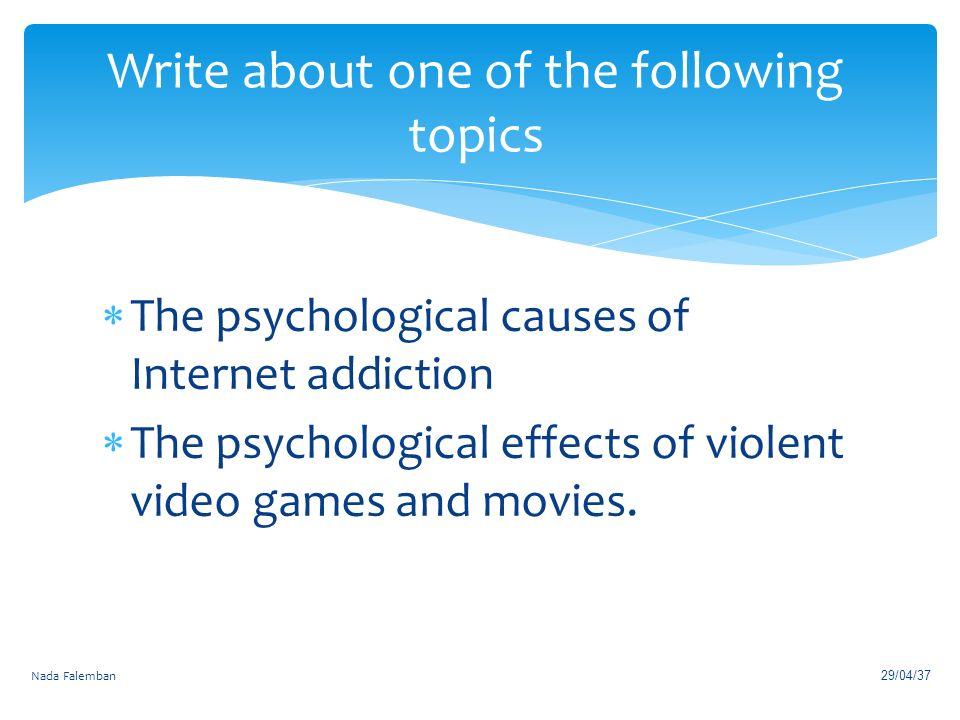 Argumentative Research Essay Outline Video Game Addiction Essay Student Council Essays also Essay Co Uk Causes Of Video Game Addiction Essay Boo Radley Essay