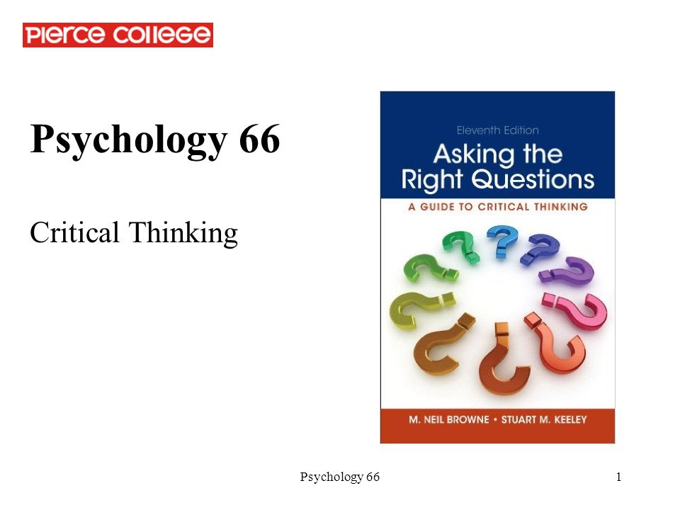 Critical Thinking And Psychology