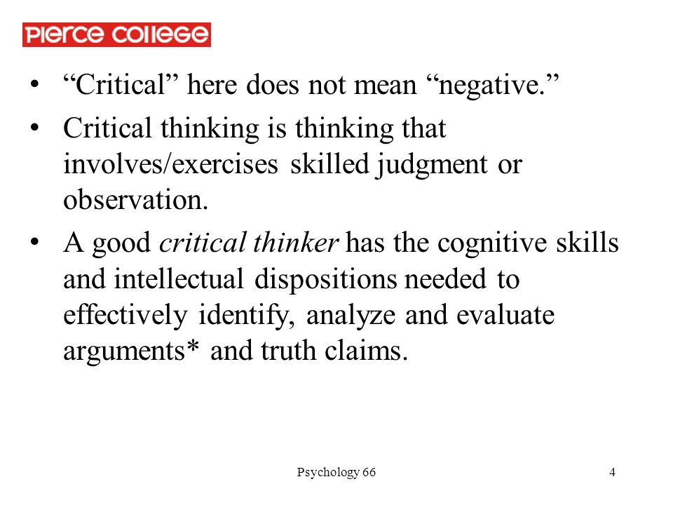 Which of the cognitive skills in critical thinking has to do with the ability to differentiate