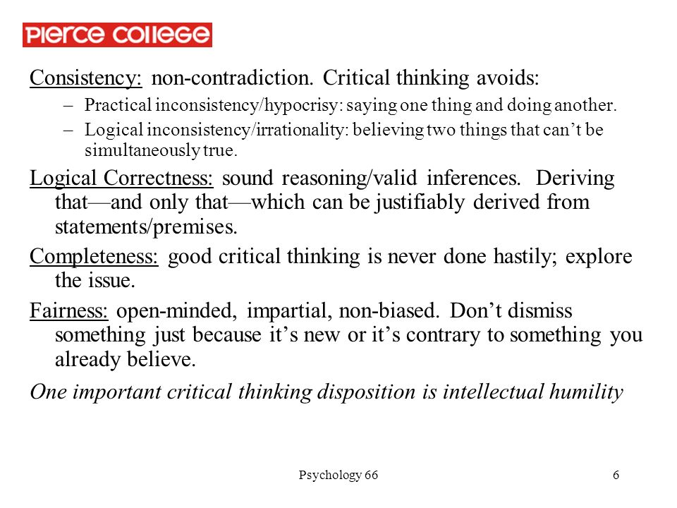 The relevance of critical thinking in