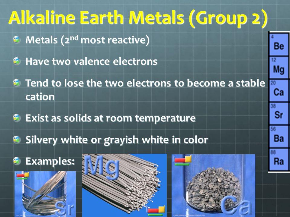 Examples Of Alkaline Earth Metals