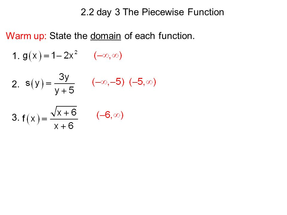 22 day 3 The Piecewise Function ppt download – Piecewise Functions Worksheets