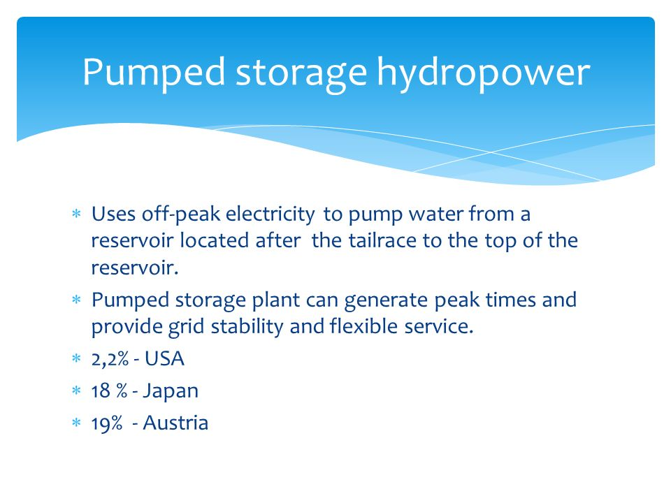 pumped storage hydropower plant pdf