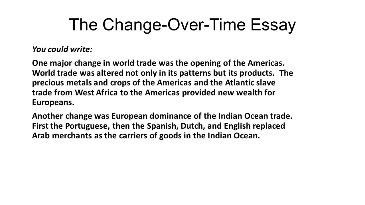 a good hook for an essay about change